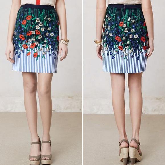Anthropologie Dresses & Skirts - Anthro {Postmark} Vertical Gardens Pencil Skirt